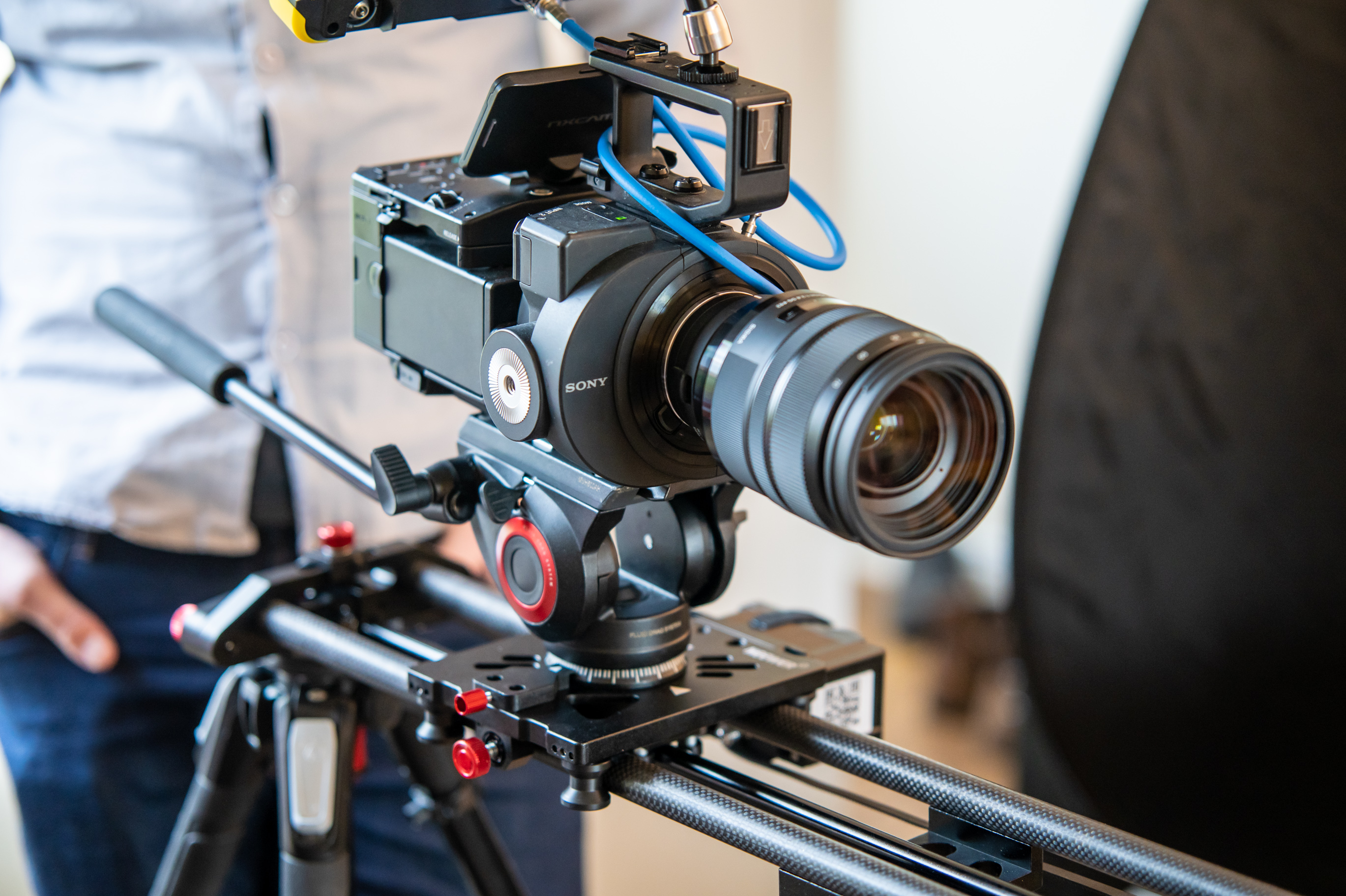 Sony FS700 on a camera slider